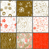 Floral patterns Royalty Free Stock Photography