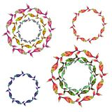 Floral patterns and vector wreaths royalty free illustration