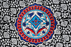 Floral patterns of the vintage tiles Royalty Free Stock Image