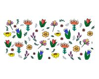 Floral patterns on white background royalty free illustration