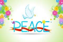 Floral peace card Royalty Free Stock Photo