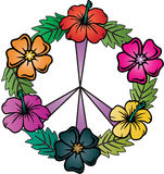 Floral Peace Sign Royalty Free Stock Photo