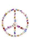Floral Peace Sign Stock Images