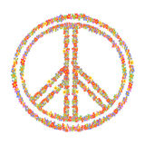 Floral peace symbol Stock Photo