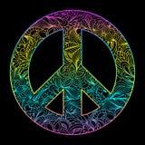 Floral peace symbol Stock Photos