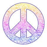 Floral peace symbol Stock Image