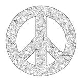 Floral peace symbol Royalty Free Stock Photography