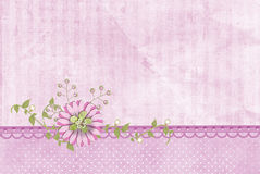 Floral and pearl border Stock Images