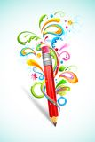 Floral Pencil Royalty Free Stock Image