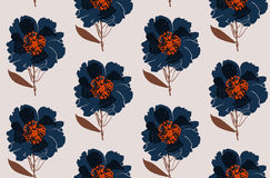Floral peony seamless pattern. Flowers . Vector illustration eps 10 royalty free illustration