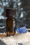 Floral perfume bottle and bath salt Royalty Free Stock Image