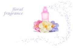 Floral perfume Stock Images