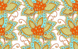Floral persian pattern Royalty Free Stock Images