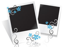 Floral photo frame. Blank frame with flowers for your text or photo Royalty Free Stock Image