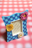 Floral photo frame Stock Images