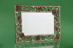Floral picture frame Stock Photography