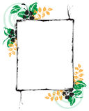 Floral picture frame stock photos