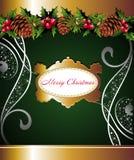 floral pinecone Χριστουγέννων ανασκόπ&et Στοκ εικόνα με δικαίωμα ελεύθερης χρήσης