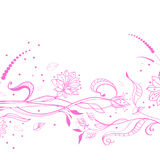 Floral pink background. Over white Royalty Free Stock Photo