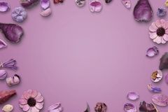 Floral pink background with free space for text or product presentation Royalty Free Stock Photography
