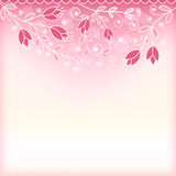 Floral pink background Royalty Free Stock Images