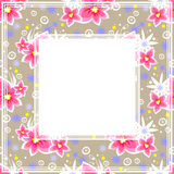Floral pink border Stock Photo