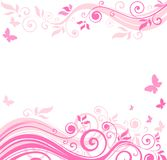 Floral pink border Royalty Free Stock Photos