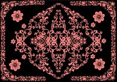 Floral pink decoration in frame Royalty Free Stock Photos