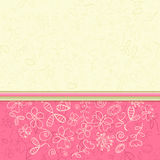 Bright Colorful Flower Greeting Card Stock Photo