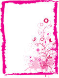 Floral pink grunge frame Royalty Free Stock Photography