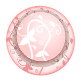 Floral pink icon Stock Photos