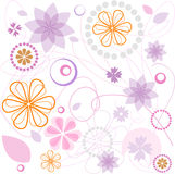 Floral pink ornament Royalty Free Stock Images