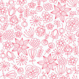 Floral pink pattern Royalty Free Stock Photography