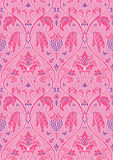 Floral pink pattern for wallpaper. Stock Photos