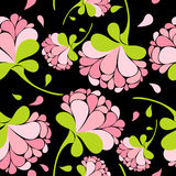 Floral pink seamless pattern Stock Photo