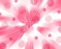 Floral pink springtime design. Pretty card/background motif stock illustration