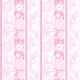 Floral pink striped wallpaper Royalty Free Stock Photos
