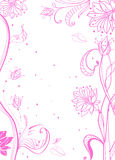 Floral pink tender background. Over white Royalty Free Stock Photos