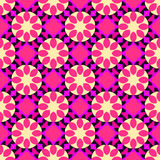 Floral pink texture with geometric elements Royalty Free Stock Photo