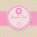 Floral pink vector frame Royalty Free Stock Photo