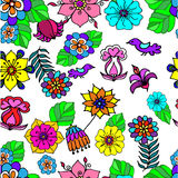 Floral plant background drawn from flower decorative Stock Images