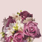 Floral postcard Stock Images