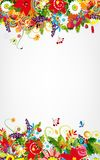 Floral postcard design with place for your text Royalty Free Stock Images