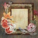 Floral postcard Royalty Free Stock Photos
