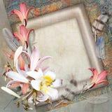 Floral postcard Stock Photos