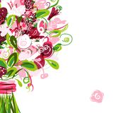 Floral postcard with place for your text Royalty Free Stock Photography