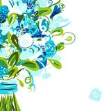 Floral postcard with place for your text Stock Photography