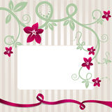 Floral postcard template. Royalty Free Stock Image