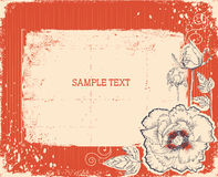 Floral postcard. vintage background Stock Photo