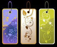 Floral price tags Royalty Free Stock Photography